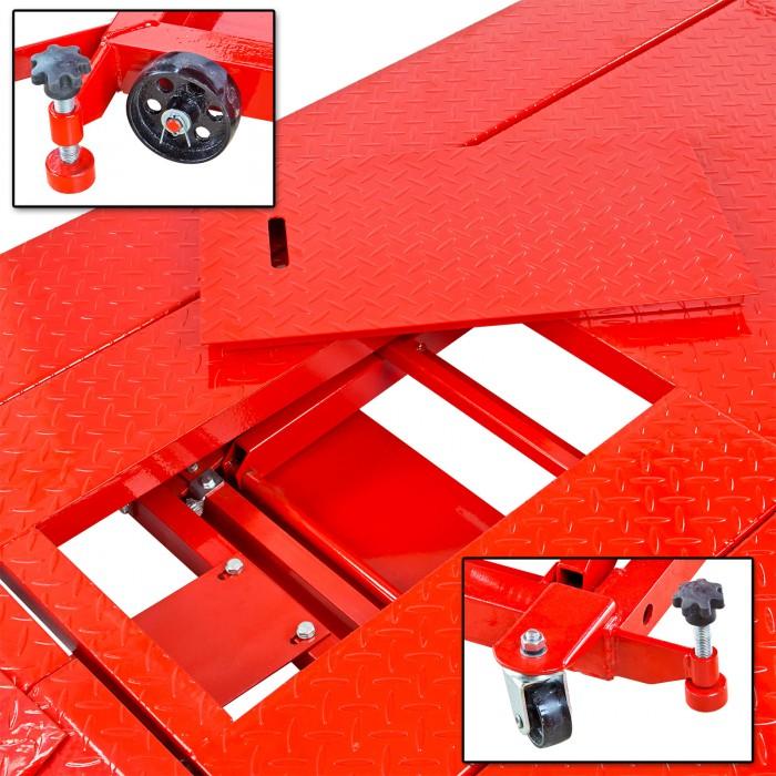 Pont élévateur moto-quad trappe et rails amovibles antidérapant 680 kg