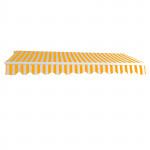 Store banne alu - Marquise extérieure jaune - auvent 3 x 2,5 m