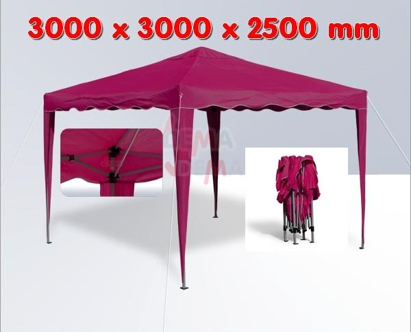 tonnelle pliante pavillon pliable 3x3 m couleur bordeaux plein air camping. Black Bedroom Furniture Sets. Home Design Ideas