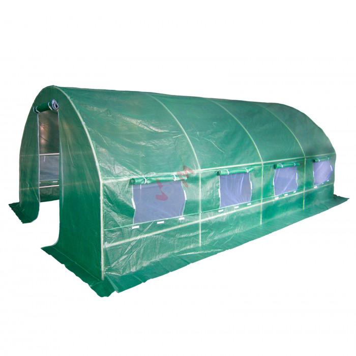 Serre de jardin tunnel 18 m² 6x3x1.9 m effet de serre tube acier 25 mm