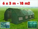 Serre de jardin tunnel 18 m2 6x3x1.9 m effet de serre tube acier 25 mm