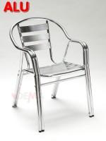 """Chaise de jardin empilable en Alu """"TWIN"""""""