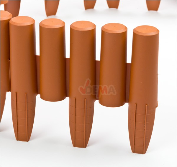 Bordure - bordurette de jardin plastique 2700 mm flexible - 10 pc