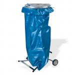 Support de poubelle de jardin mobile pour sac jusqu'à 120 L