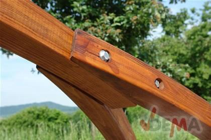 Support hamac bois laminé forme pont - charge 300 kg
