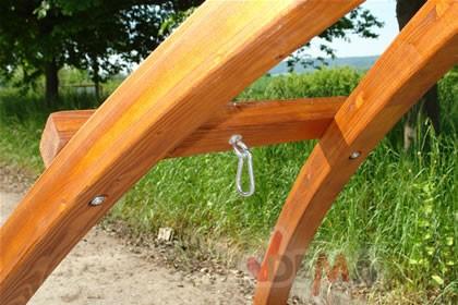 Support hamac bois laminé pont inversé - charge 300 kg - NEUF