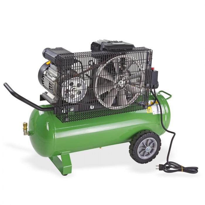 Compresseur bi-cylindre 230 V - cuve 50 L - régulateur de pression