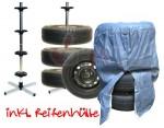 Porte 4 roues + bâche de protection - hauteur 1010 mm