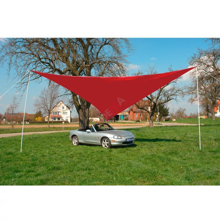 Parasol auvent 5 x 5 Rouge toile cousue  jardin extérieur