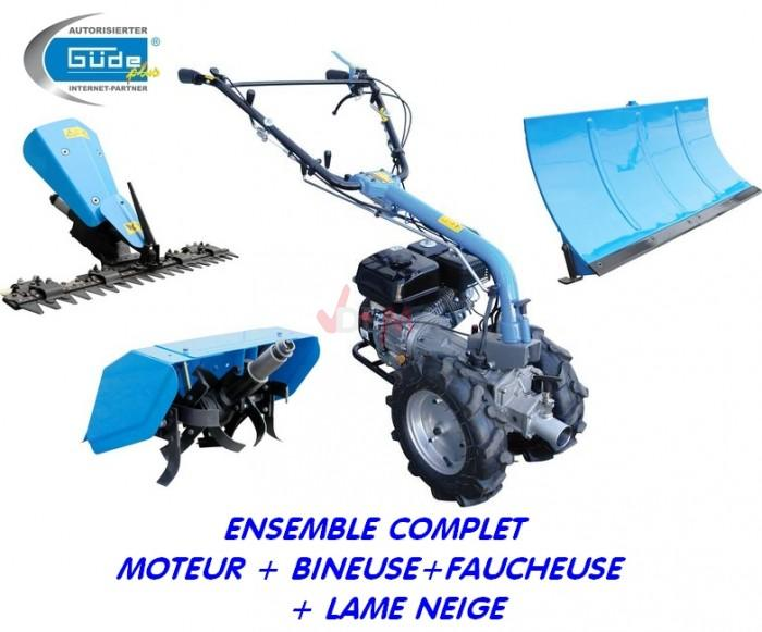 Motoculteur G95180 + bineuse + faucheuse + lame chasse neige complet