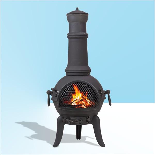 Barbecue BBQ métal coulé ouverture ovale 290x200 mm extérieur jardin