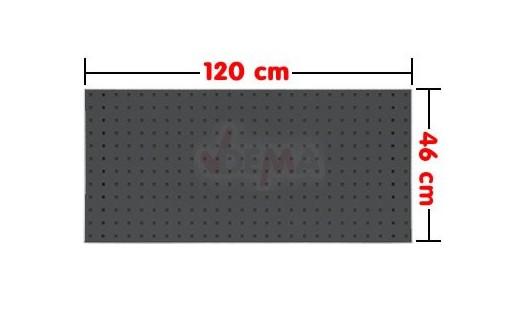 panneau porte outil 1200 x 460 mm acier trou carr 10 mm. Black Bedroom Furniture Sets. Home Design Ideas