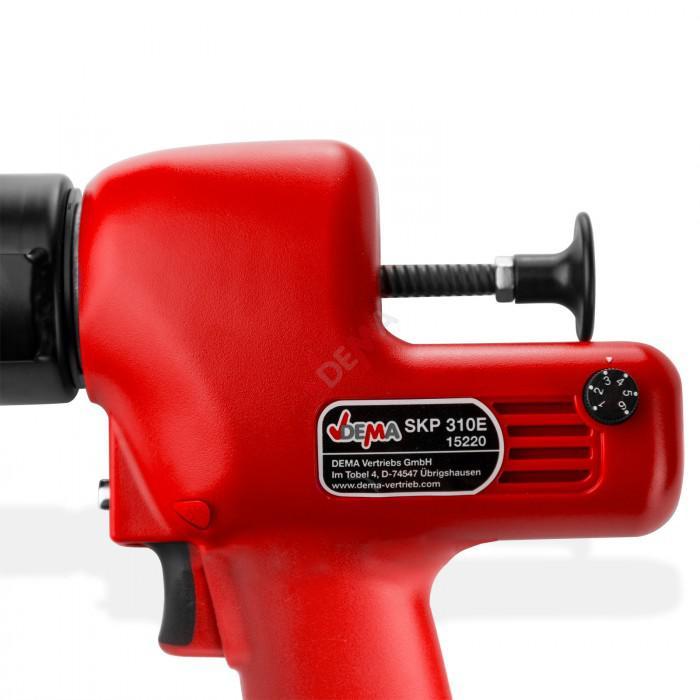 Pistolet silicone à piles 6 V interrupteur sécurité pression 150 KGF