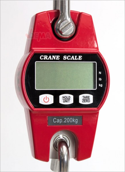Peson peseur pour grue ou palan 200 kg écran LCD