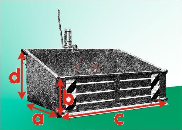 Benne / benette arrière pour tracteur galvanisé 800 kg 0,83 m3