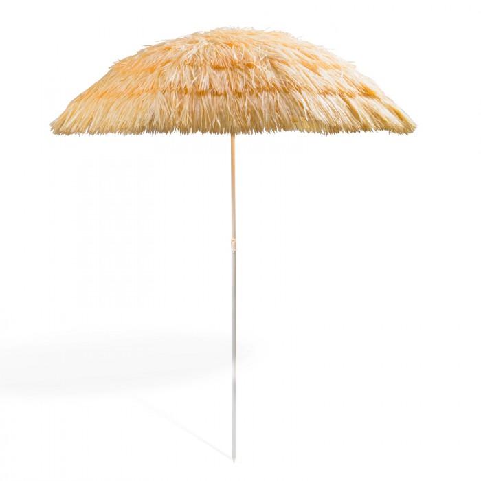 Parasol de plage Hawai - de couleur bambou nature/Beige