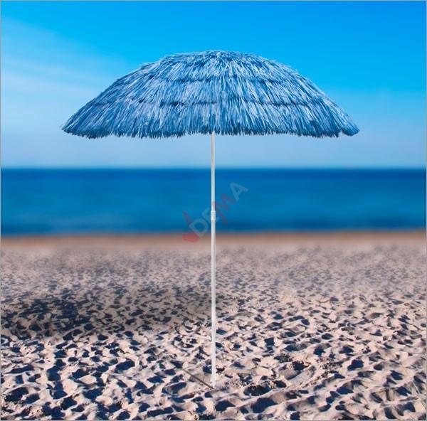 Parasol de plage Hawai - de couleur Bleu