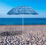 Parasol de plage Hawai - de couleur Bleue
