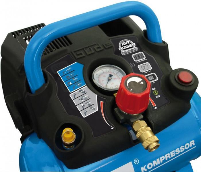 Compresseur portable AIR POWER sans huile réservoir de 6l. 190/08/6