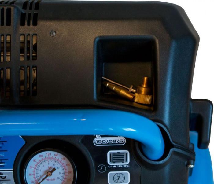 Compresseur portable AIRPOWER sans huile réservoir de 6l. 190/08/6
