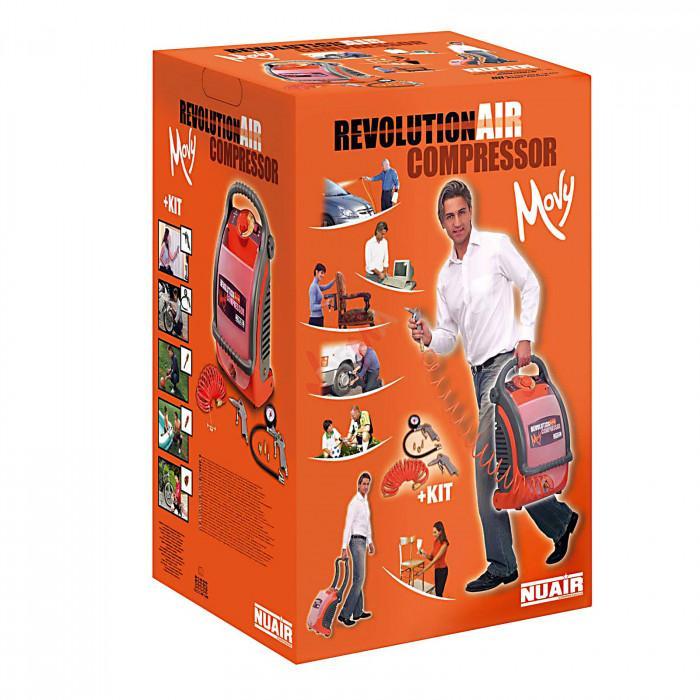 Compresseur Revolution Air set 6 pièces réservoir de 5 l.