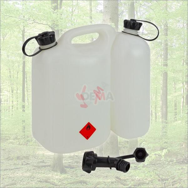 Jerrican Double carburant de 5,5 + 3 Litre