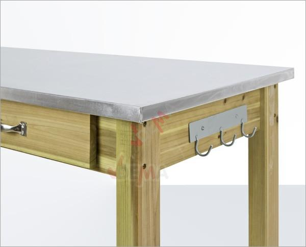 Table multi fonctions de jardin avec plateau en zinc - Jardin ...