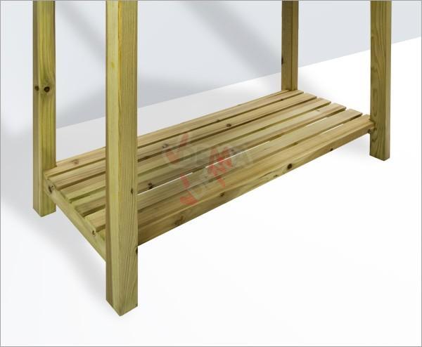 Table multi fonctions de jardin avec plateau en zinc