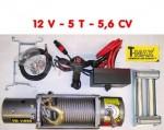 Treuil T-MAX 5 Tonnes- 12 V 5,6 CV -