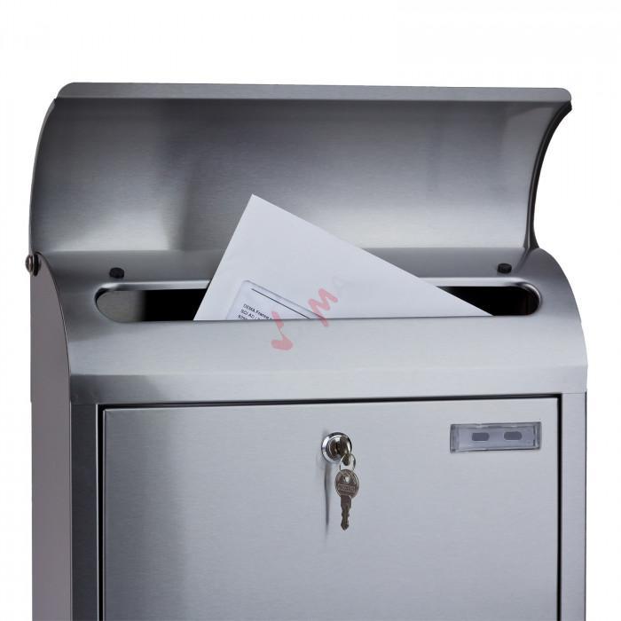 Boite aux lettres ''Milan'' avec compartiment à journaux