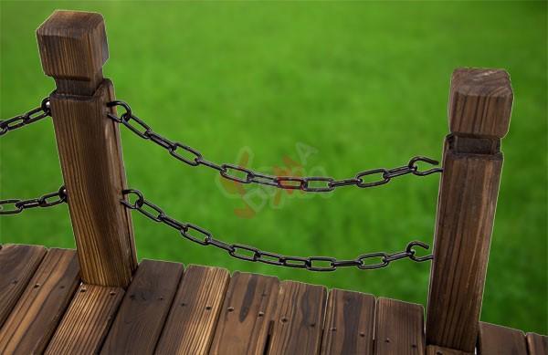Pont de jardin Rustique d´une longueur de 148 cm