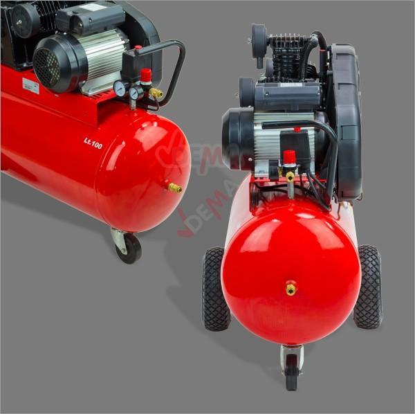 compresseur de 100 litres 3 cylindres 230 v compresseur. Black Bedroom Furniture Sets. Home Design Ideas