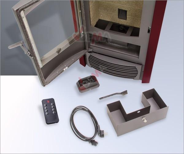 po le granul s pellets programmable lcd 9 4 kw bordeaux bois chauffage. Black Bedroom Furniture Sets. Home Design Ideas