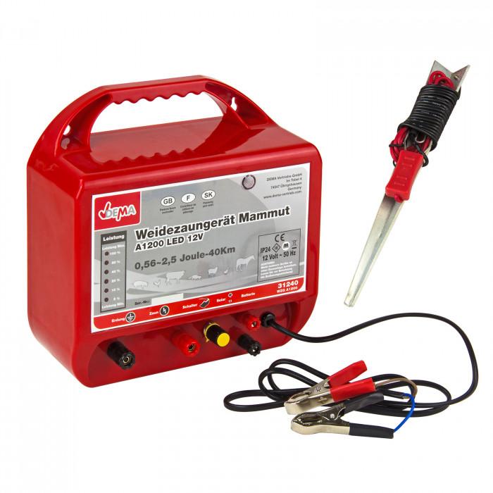 Electrificateur de clôture 12 V - 0,56-2,5 Joules