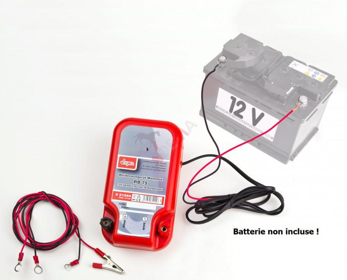 Electrificateur de cloture 10/12 V 0,6 Joule