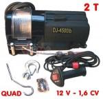 Treuil 2 Tonnes - uniquement pour quad - 12 V - 1,6 CV