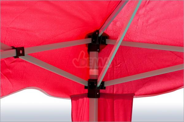 tonnelle pliante pavillon pliable 3x3 m couleur rouge. Black Bedroom Furniture Sets. Home Design Ideas