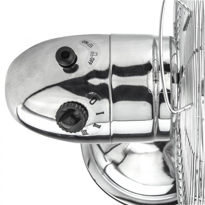 Ventilateur de table chromé 3 vitesses 30 cm 40 Watt