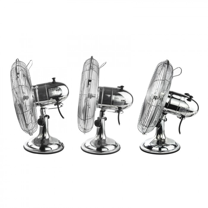 Ventilateur de table chromé 3 vitesses 30 cm 40 Watt