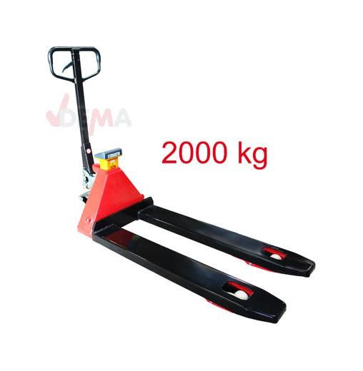 Transpalette peseur 2 T - Fourches 1140 mm