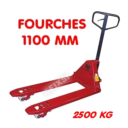 Transpalette 2,5 Tonnes - Fourches 1100 mm