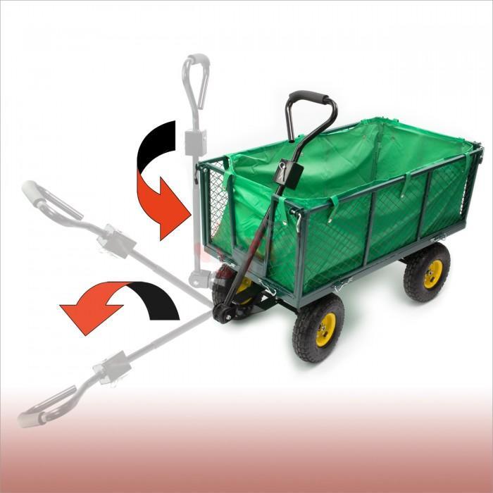 remorque green chariot de jardin main jardin entretien. Black Bedroom Furniture Sets. Home Design Ideas