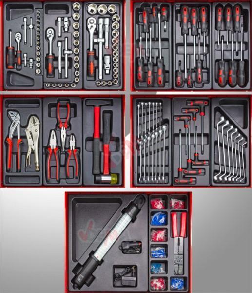 """Servante d'atelier """"ECONOMIQUE"""" 121 outils"""