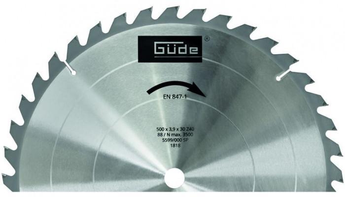 Lame de scie au carbure 500 X 30 X 3,6 mm pour G01817 et G75771