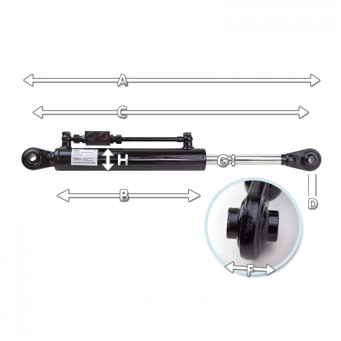 Tirant 3 points hydraulique CAT.I / 536 - 816 mm