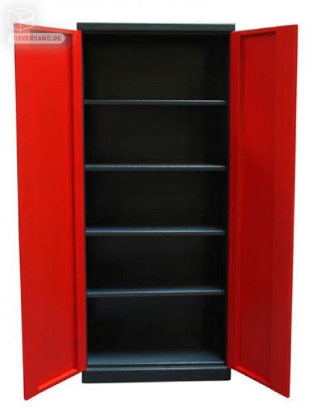 Armoire de rangement gamme rouge et noir mobilier d 39 atelier - Armoire de rangement atelier ...