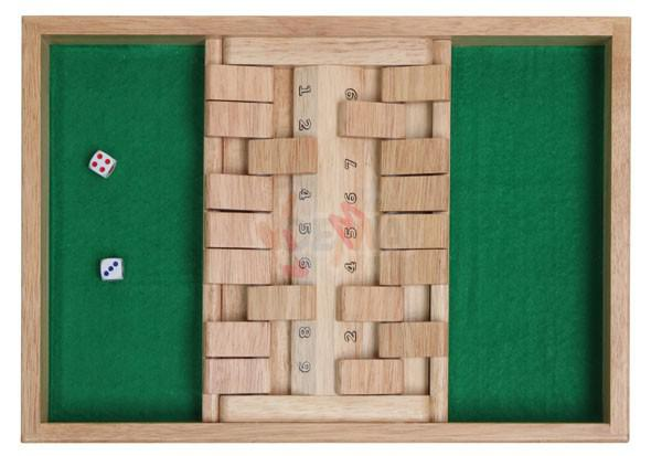 Jeu de trac double - SHUT THE BOX