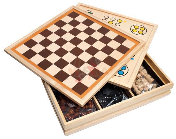 Jeux de société en bois 10 en 1