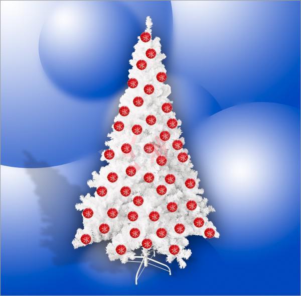 Sapin de Noël artificiel blanc avec pied support 132 X 210 cm