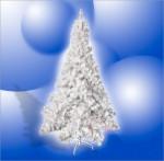 Sapin de Noël artificiel blanc avec pied support 110 X 180 cm